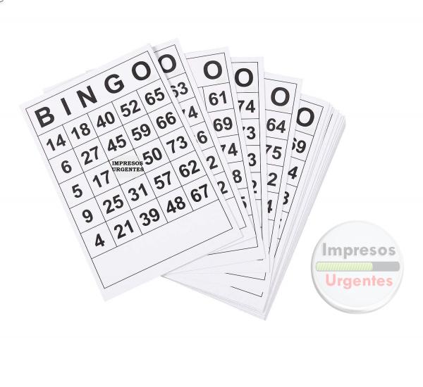 Bingos blanco y negro